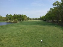 First tee box to start your day with a par 5.