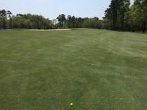 Approach shot to par 5 10th hole.