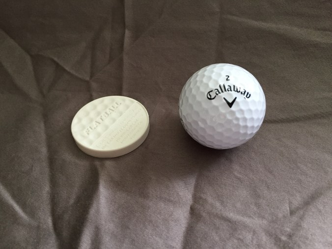 FlatBall is same diameter as regulation golf ball.