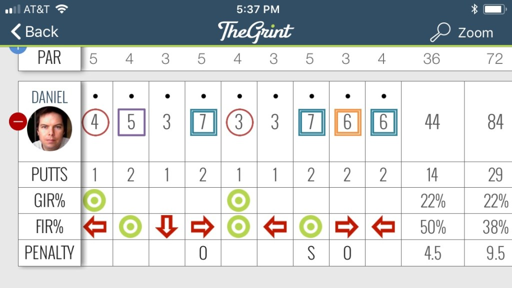 Best Round Ever Back 9