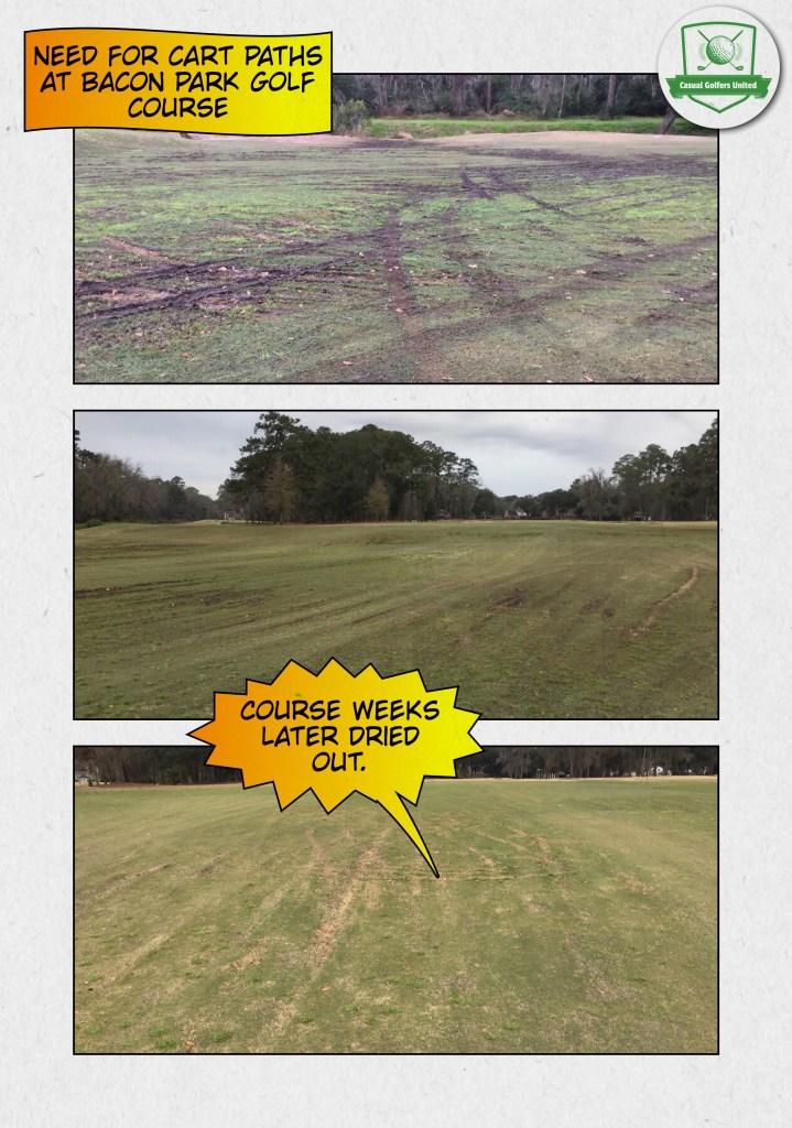 Bacon Park golf course fairways