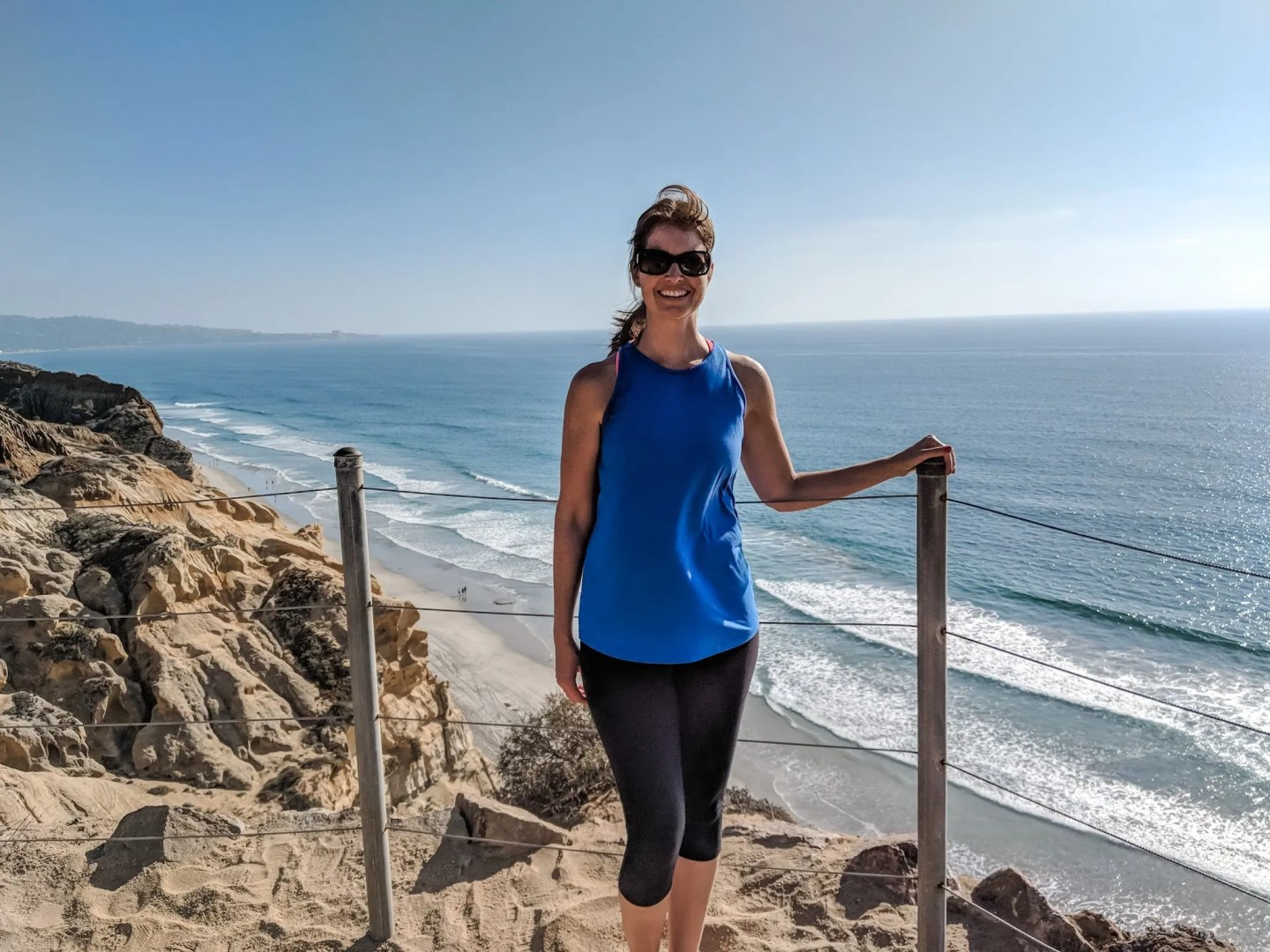 A little windy at Torrey Pines in San Diego, but the breeze and sun felt amazing!