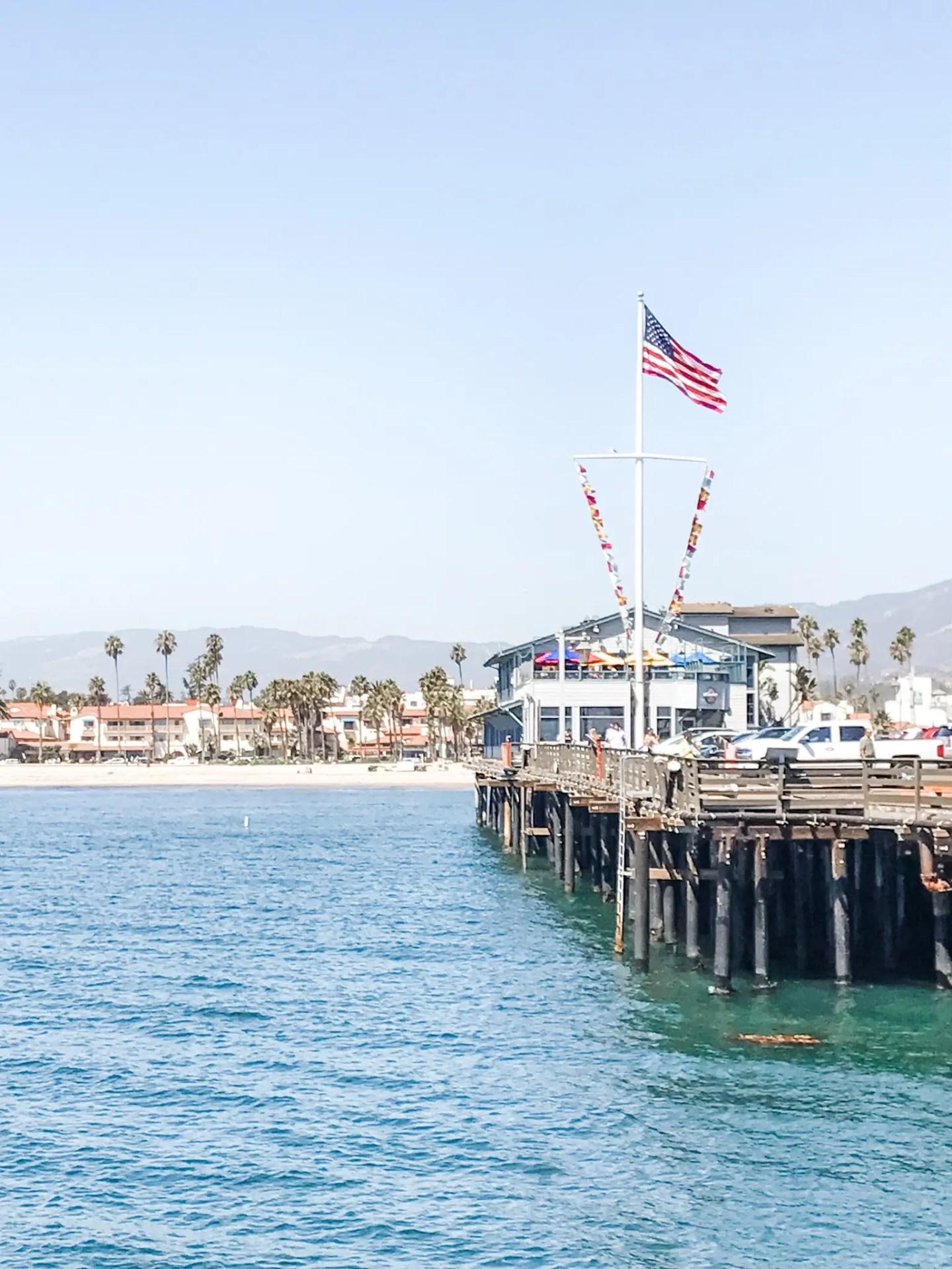 Stearn's Wharf, Santa Barbara. Not a lot of places boast ocean AND mountain views!