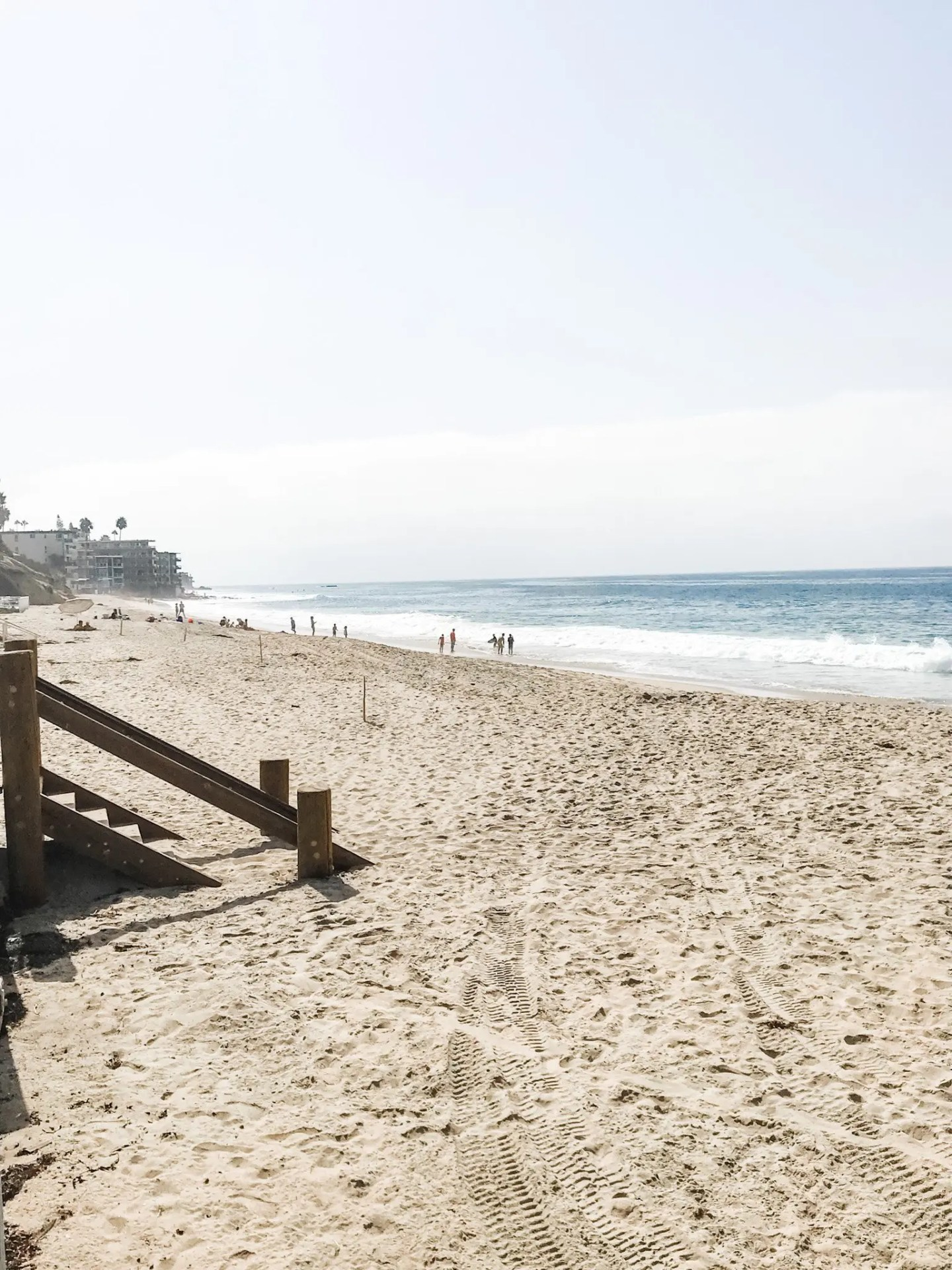"""Stretched our legs at """"Main Beach"""" in Laguna Beach, one of the stops on our road trip to southern California."""