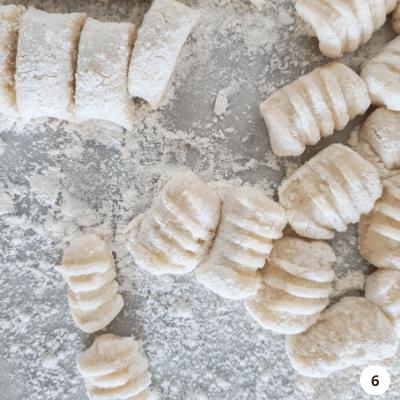 shape your potato gnocchi