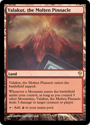 the Molten Pinnacle Zendikar Valakut Magic: the Gathering