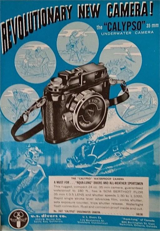 An ad showing the original Calypso camera