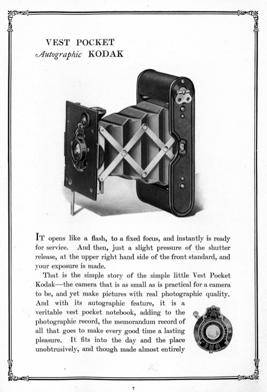 Catalogue Kodak 1918