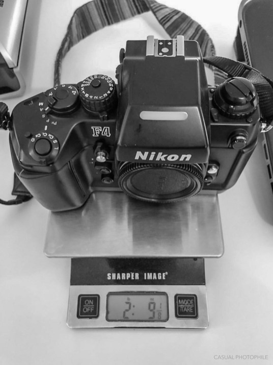 Nikon F4 and f5 weight (1 of 2)