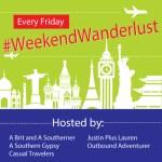 #WeekendWanderlust link up logo