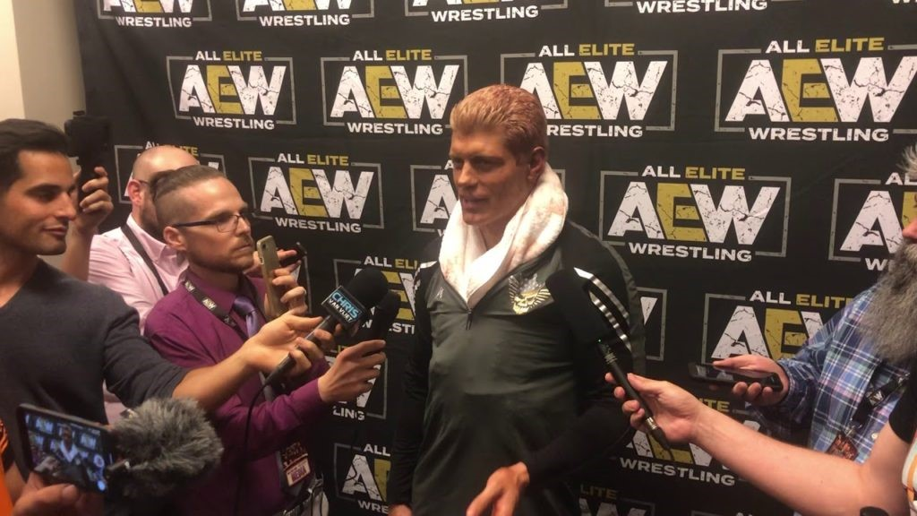AEW interacting with media