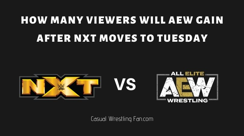 How many viewers will AEW gain after NXT moves to Tuesday