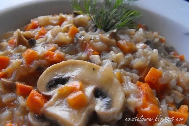 Risotto cu morcovi si ciuperci