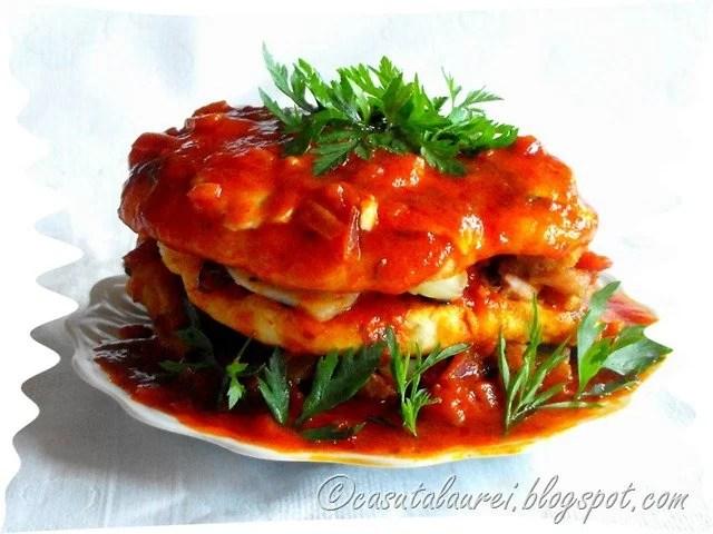 Enchillada de pui cu sos salsa mexican