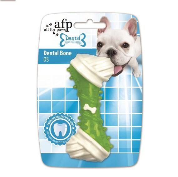 hueso sabor pollo para limpiar los dientes de perro
