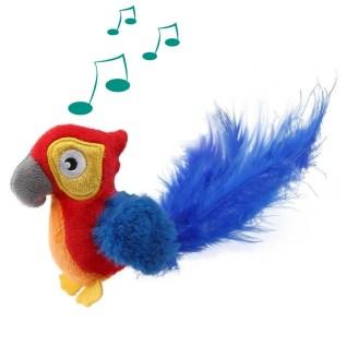 juguete para gatos 7380 gigwi melody cat toy loro con sonido