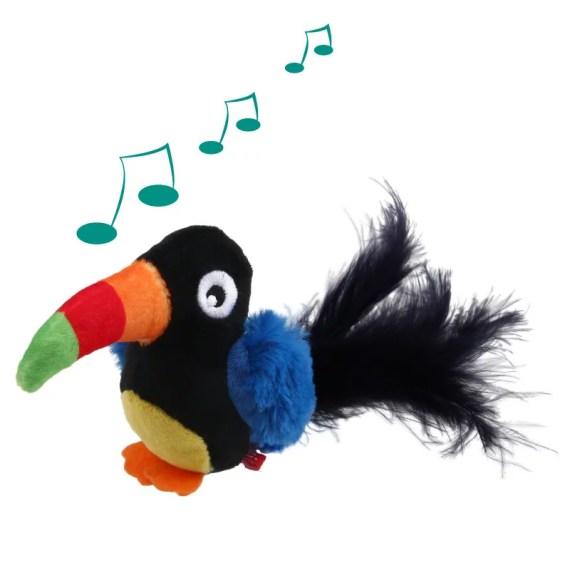 juguete para gatos 7381 gigwi melody cat toy tucan con sonido