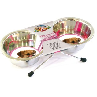 platos para perros doble