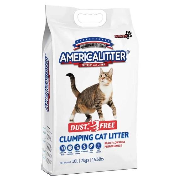 arena para gato america litter free dust