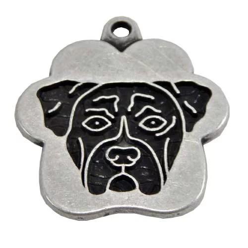 placa para perros boxer grabado peru