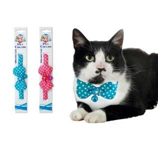 collar con lazo para gatos