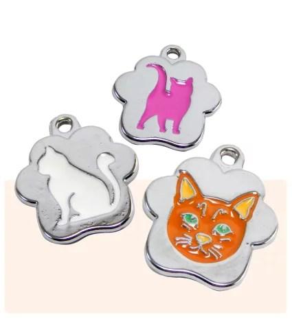 placas de identificación para gatos