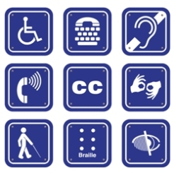 various accessibility icons