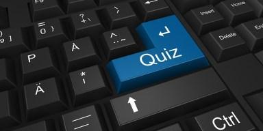 keyboard with quiz key emphasized