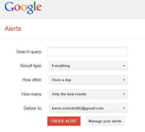Google Alerts is fast and simple to use