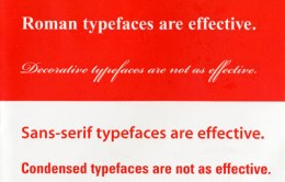 image showing times roman font family as a font that is more effective than a decorative font family