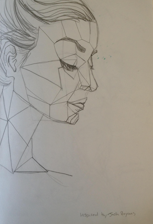 Geometric Faces Drawing Skills