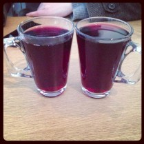 Mulled Wine at the Starbucks Ice Rink Bar