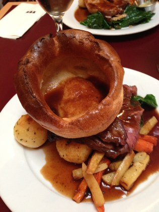 Beef roast at the Draughthouse