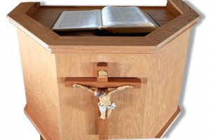 Pulpit at Catalina Lutheran Church