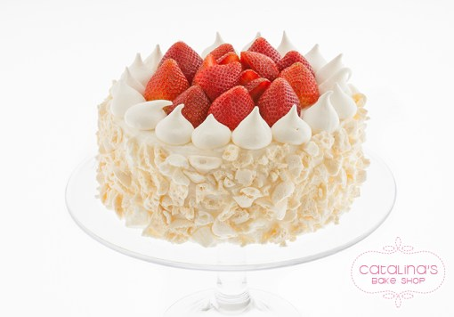 Strawberry-Vanilla-Genoise-Cake