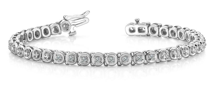 B140 White Gold Diamond Bracelet