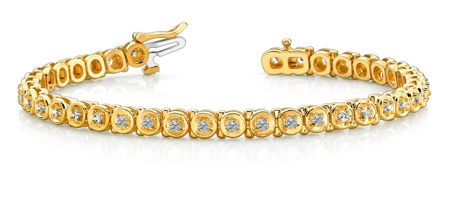 B140 Yellow Gold Diamond Bracelet