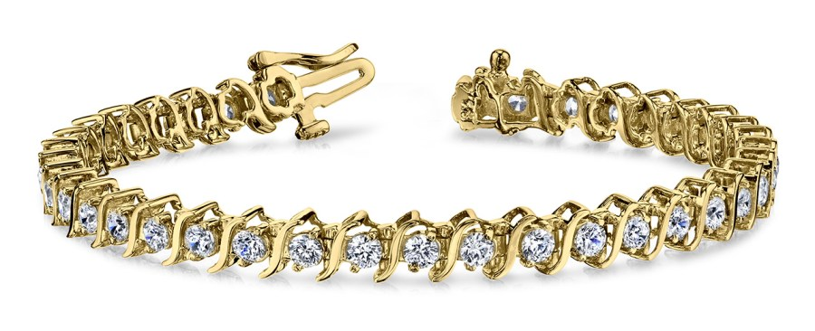 Classic S shaped Diamond Tennis Bracelet