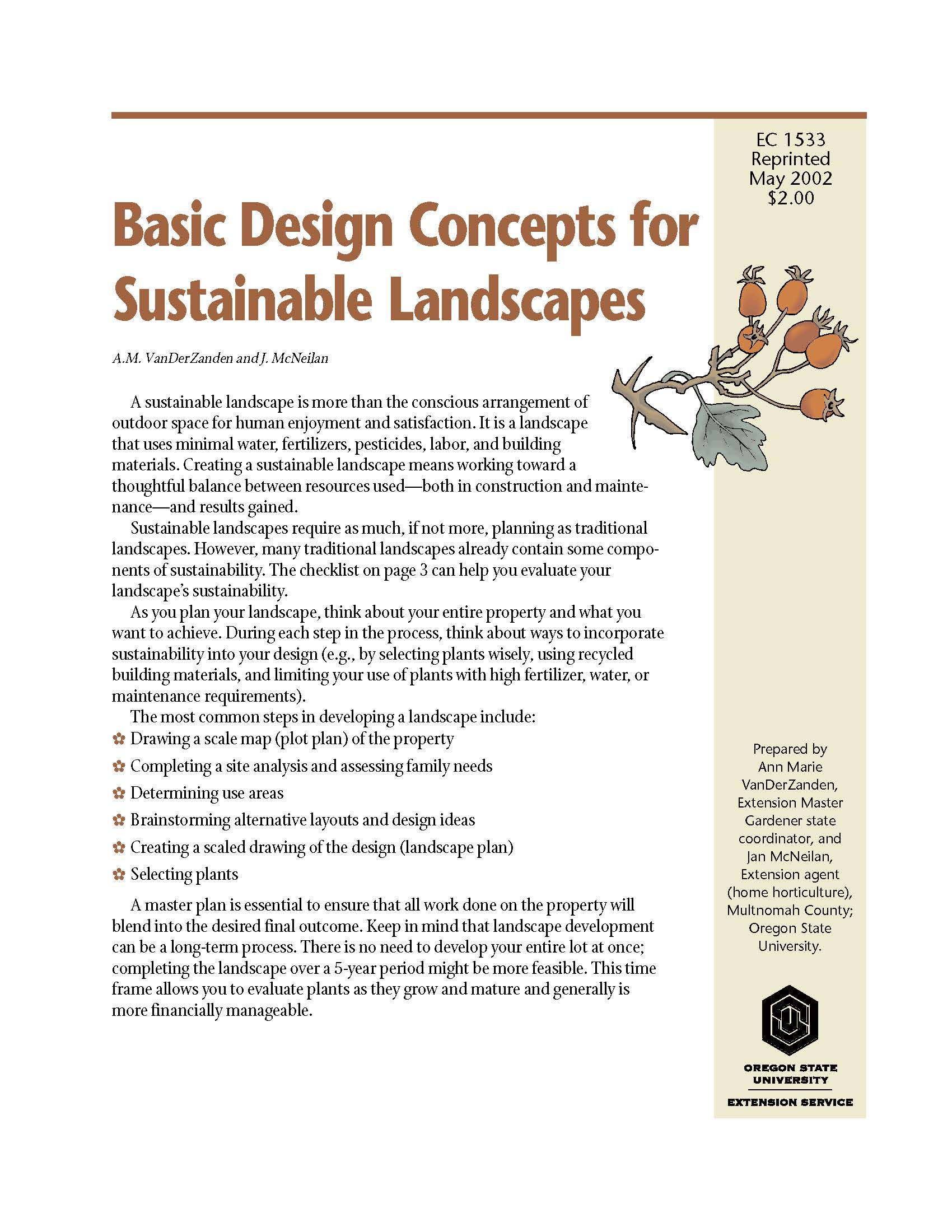 Basic Design Concepts For Sustainable Landscapes