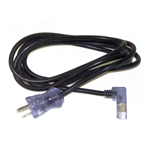 Medical grade right angle power cord