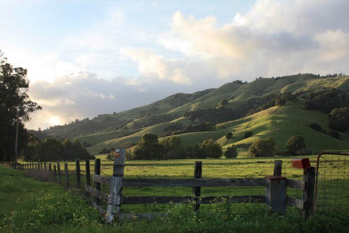 Sunset San Geronimo Valley