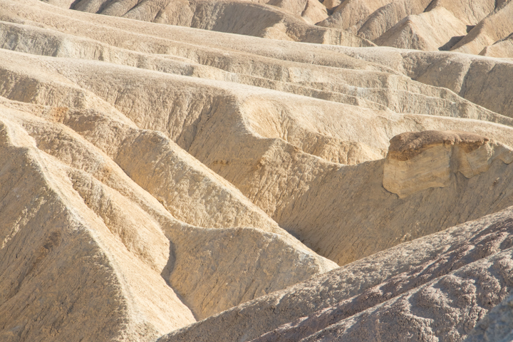 Death Valley textures and rock formations, Zabriskie Point