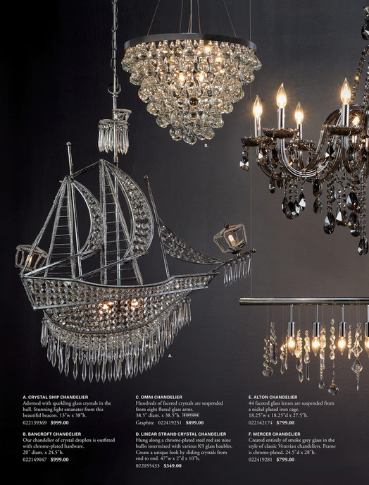 B A Crystal Ship Chandelier C Omni E Alton Adorned With Sparkling Glass