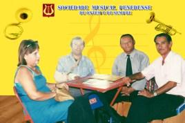 Wilson e a maestrina Verônica Trindade, o maestro Eraldo Trindade e o presidente Paulo Calumby