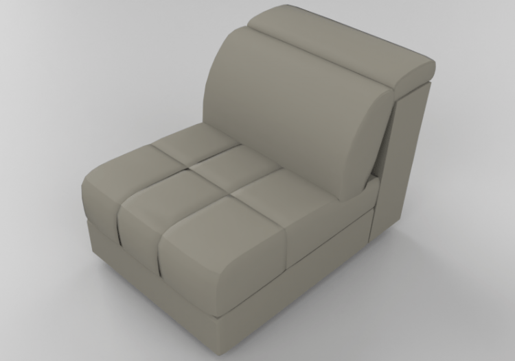 chairs and sofas 3d modular leather