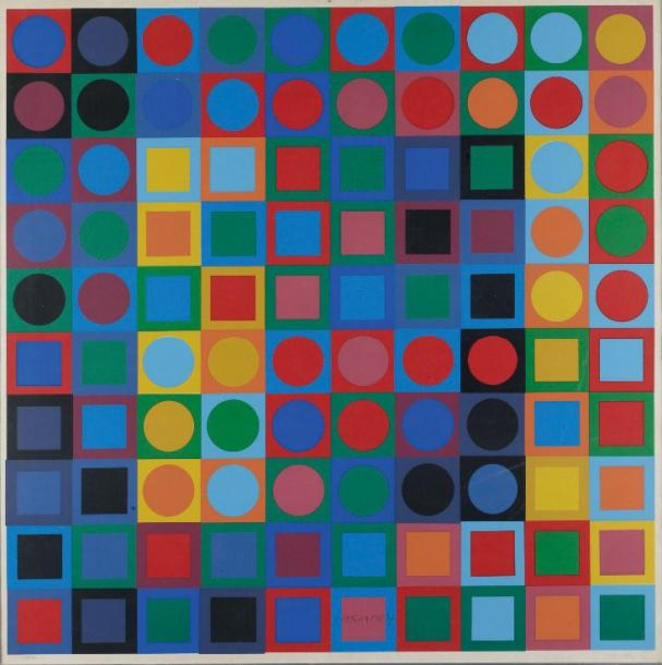 victor vasarely colouring