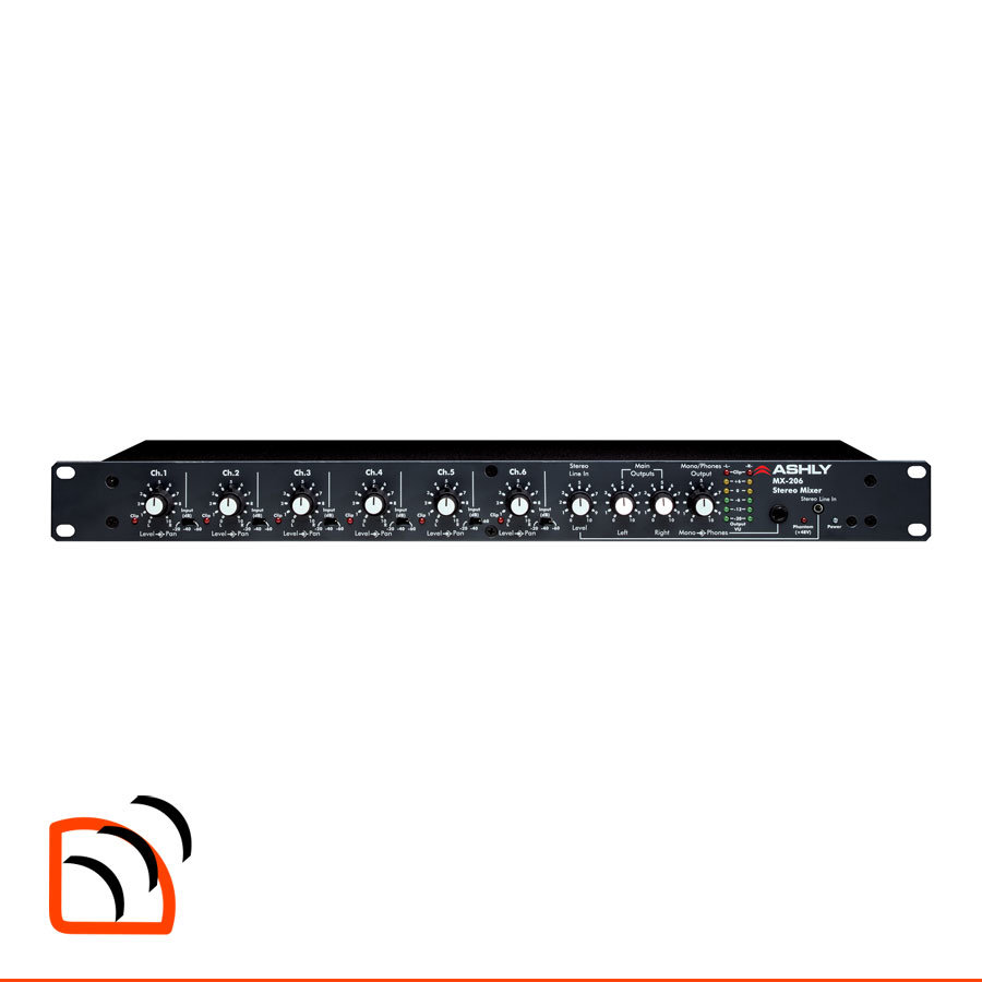 Mx 206 Stereo Microphone Mixer Sound Directions Online Catalogue Ashly Mx206 6 Channel Image
