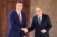 رئيس الحكومة الإسبانية يلتزم بوعده قبل تشكيل الحكومة ويلتقي رئيس الحكومة الكتلانية كيم تورا.
