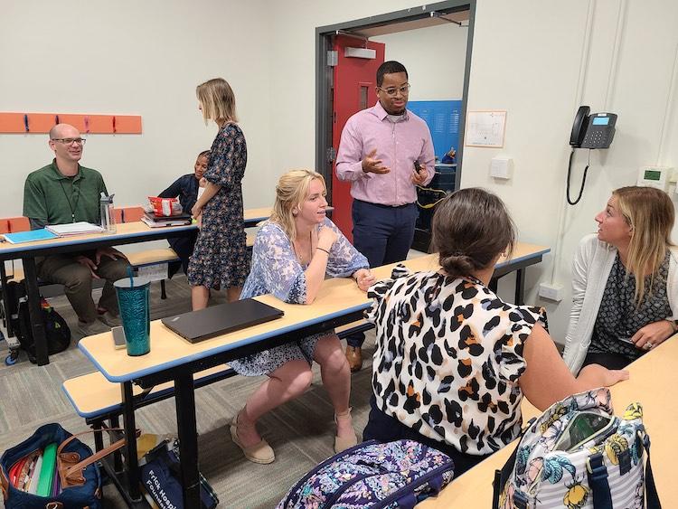 Catalyst teachers during Teacher Training Camp