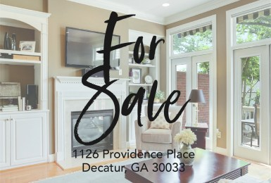 Low Maintenance, gated, peaceful town home in Toco Hills with 2 car garage intown Atlanta for sale